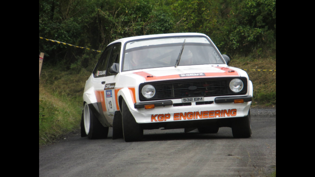 Ed O'Callaghan on way to winning Claire Stages Rally in his KGP Vauxhall powered escort