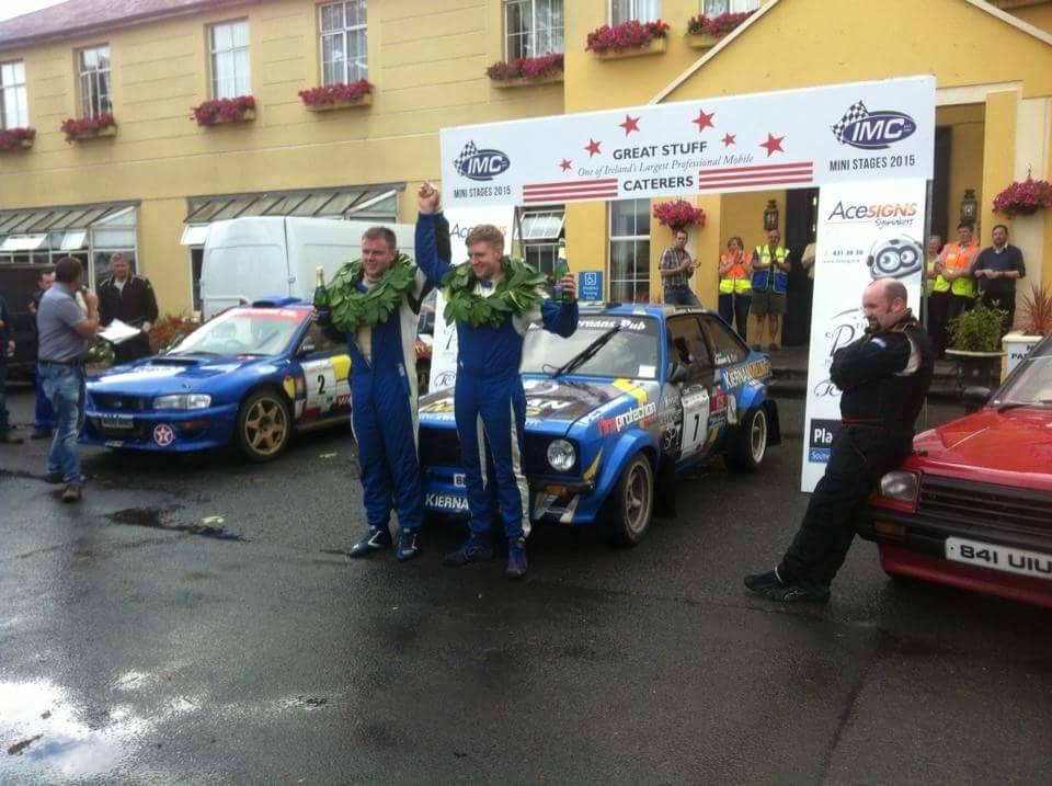 Gary Kiernan Winning in his KGP powered Escort
