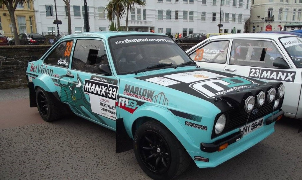 Michael Dunlop making the switch from 2 to 4 wheels in his KGP engined Escort